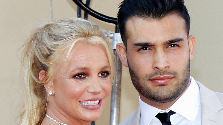 Britney Spears and Sam Asghari on the red carpet