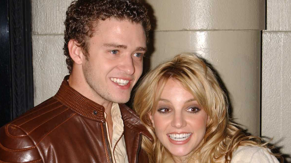Justin Timberlake and Britney Spears smiling