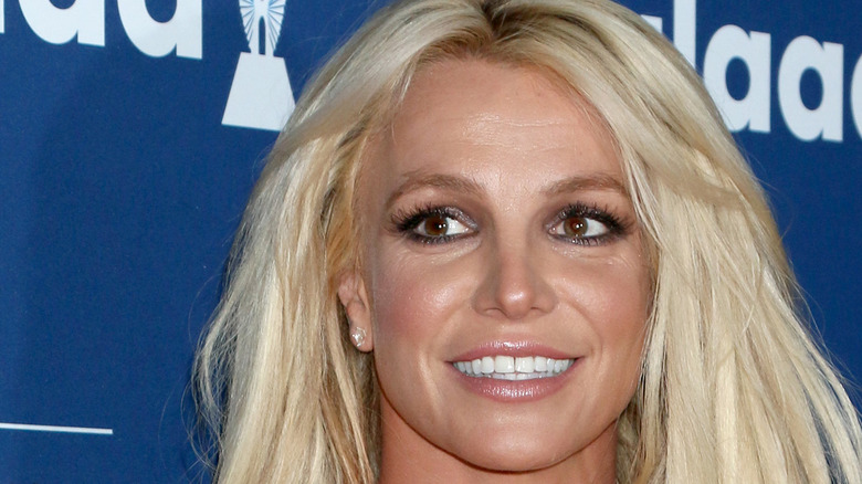Britney Spears with long hair