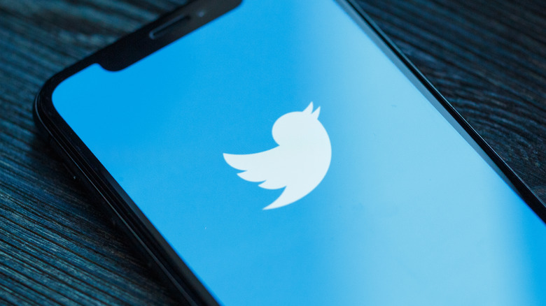 Phone loading Twitter