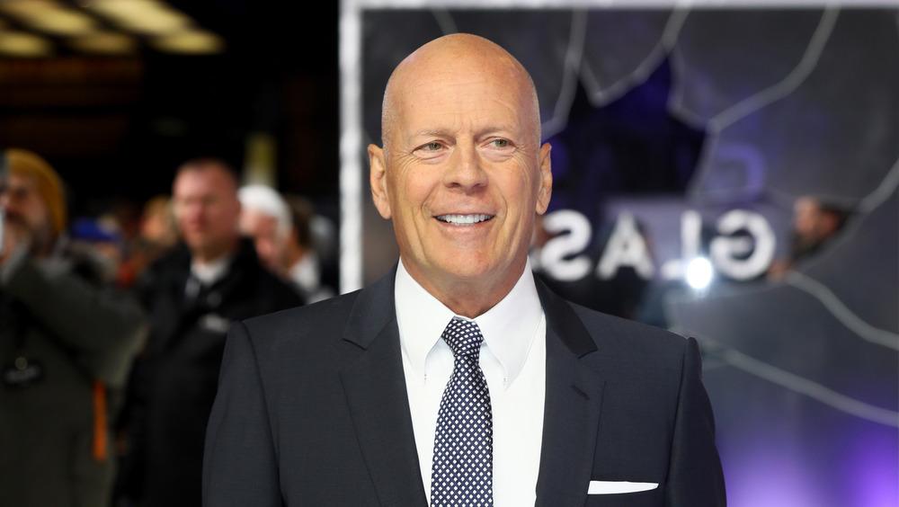 Bruce Willis at Glass premier