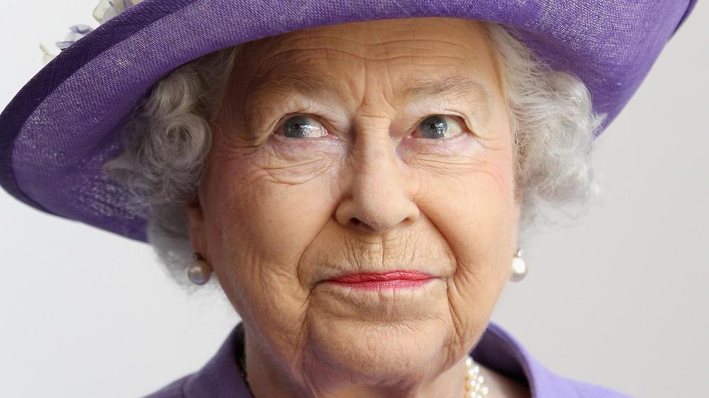 Queen Elizabeth at a ceremonial event