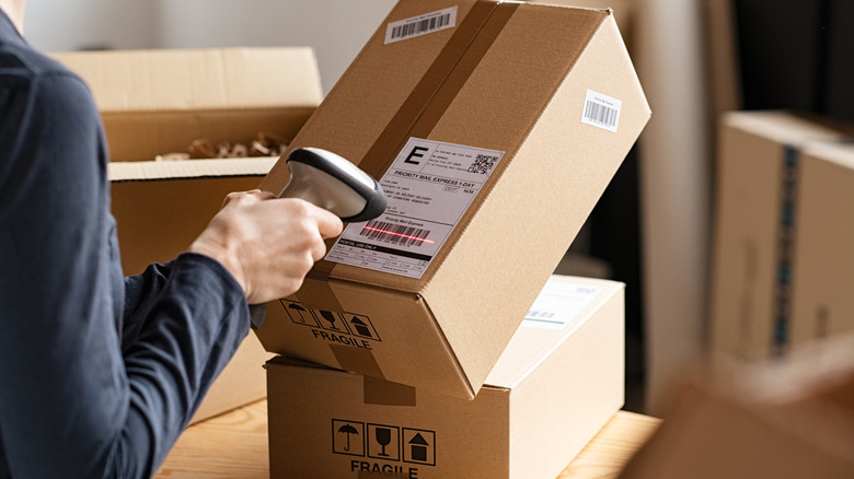 Scanning an item for delivery