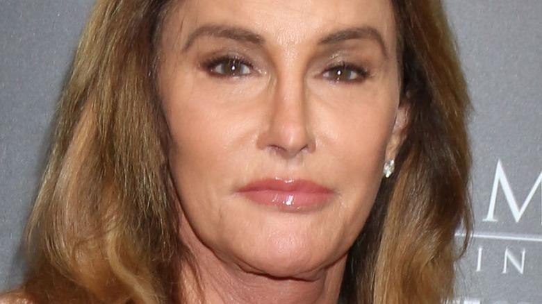 Caitlyn Jenner beige dress