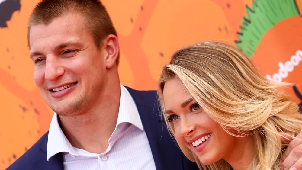 Camille Kostek and Rob Gronkowski