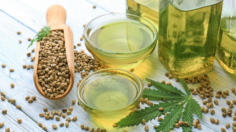 Hemp oil and hemp seeds