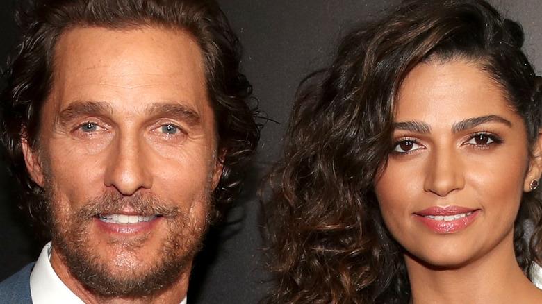 Matthew McConaughey and Camila Alves smiling
