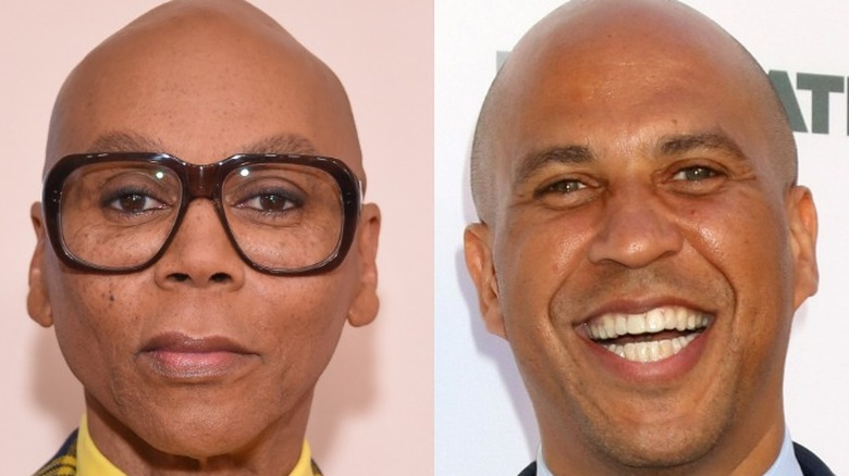 RuPaul Charles and his cousin Cory Booker