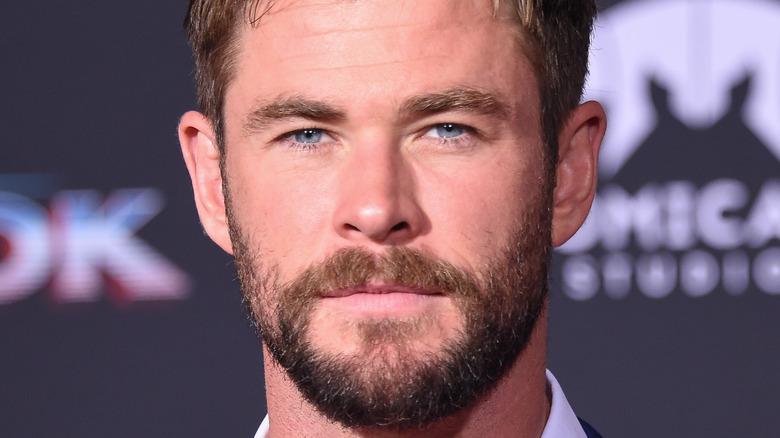 Chris Hemsworth posing