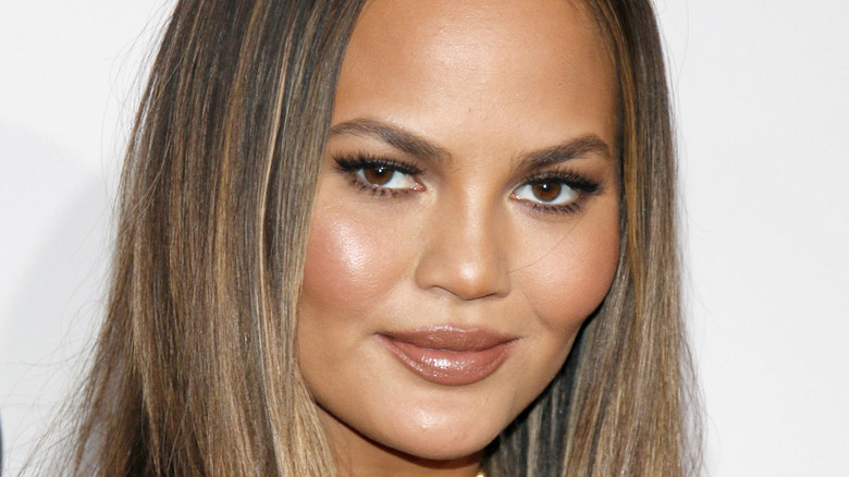 Chrissy Teigen at the American Music Awards.