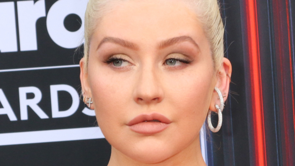 Christina Aguilera posing