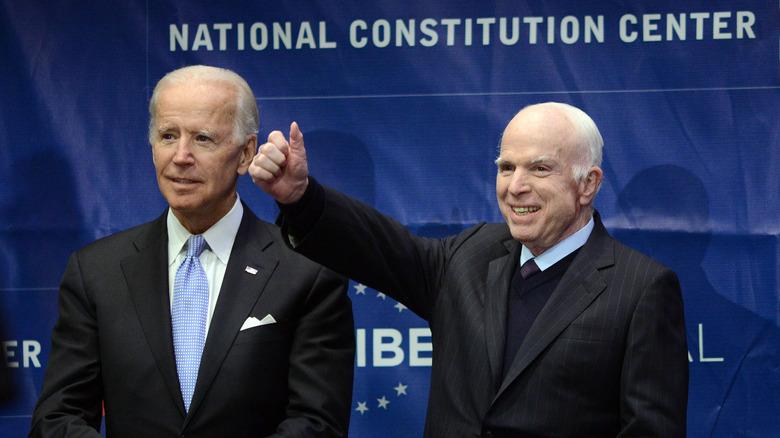 Joe Biden and John McCain