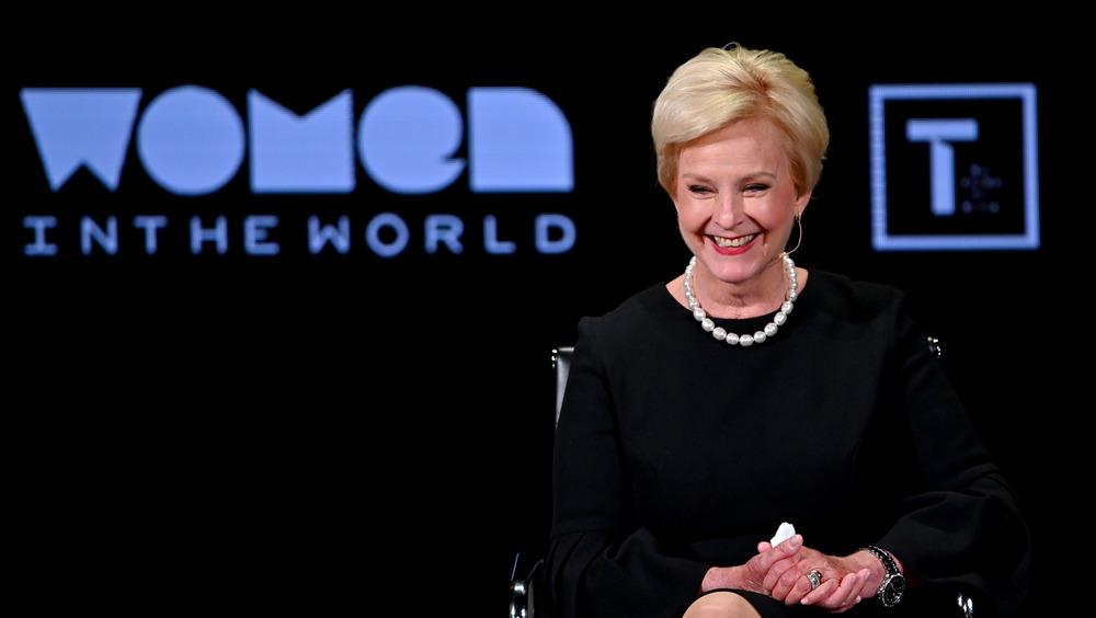Cindy McCain sitting in black dress
