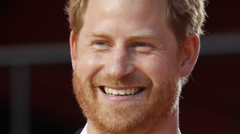 Prince Harry giving a talk