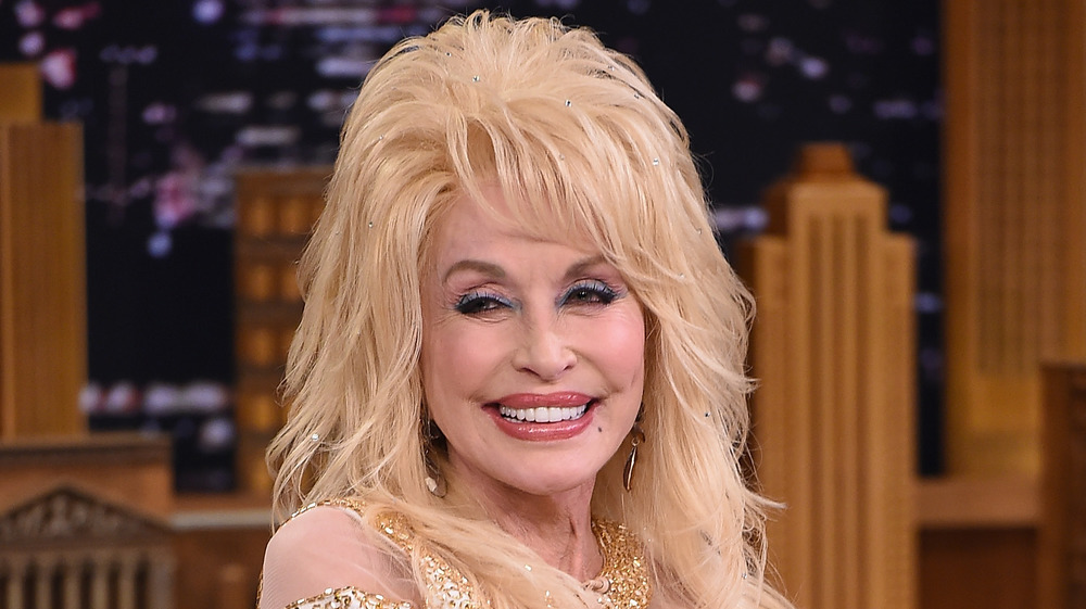 Country star Dolly Parton, up-close