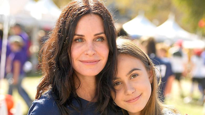 Courteney Cox hugging daughter Coco