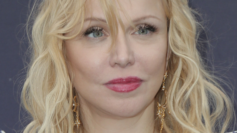 Courtney Love with slight smile