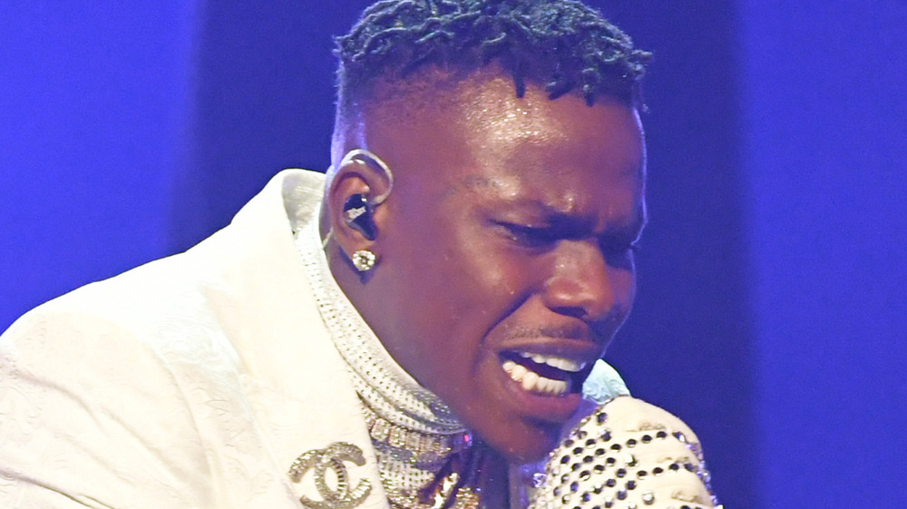 DaBaby performing at the 2021 Grammy's