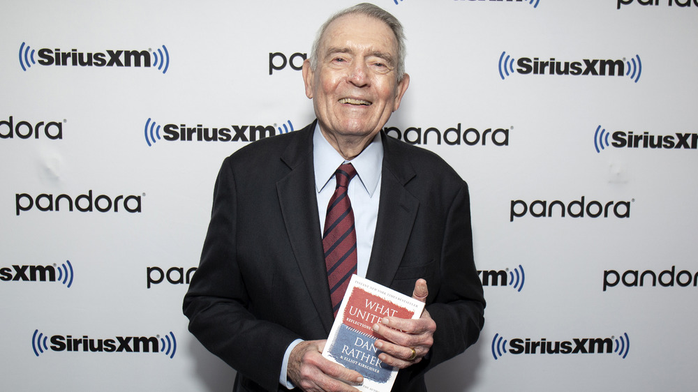 Dan Rather on the red carpet