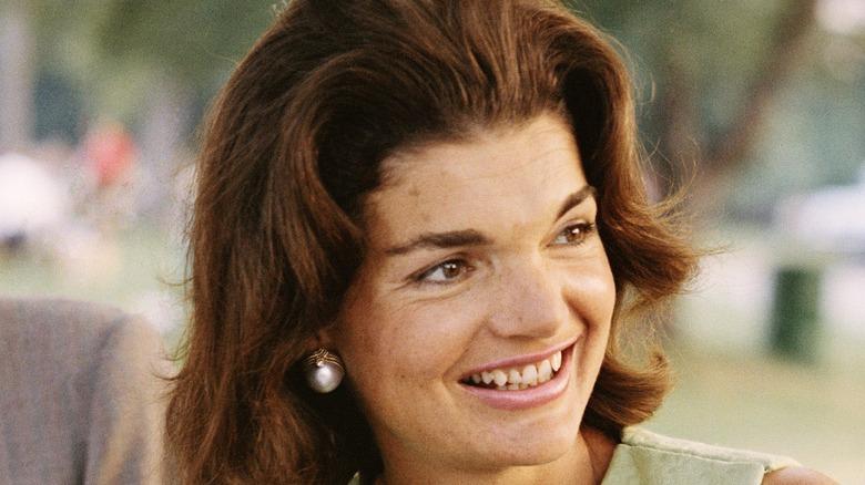 Jackie Kennedy outdoors