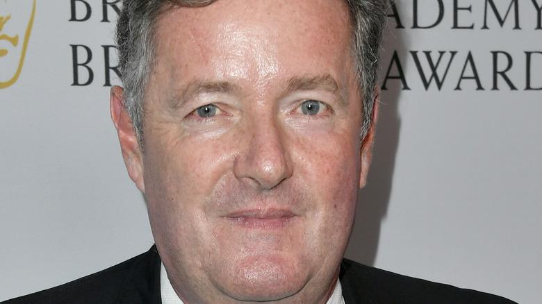 Piers Morgan straight faced