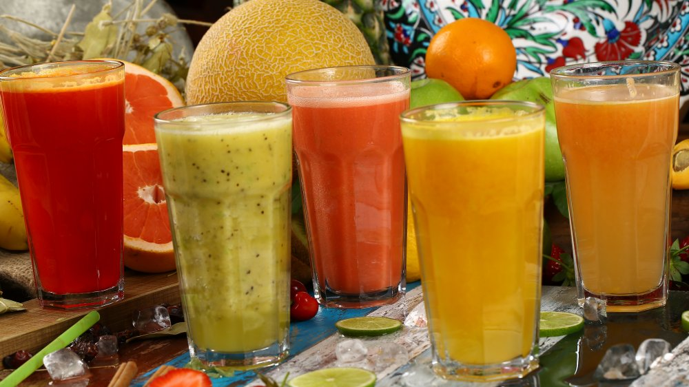 Different kinds of fruit juice