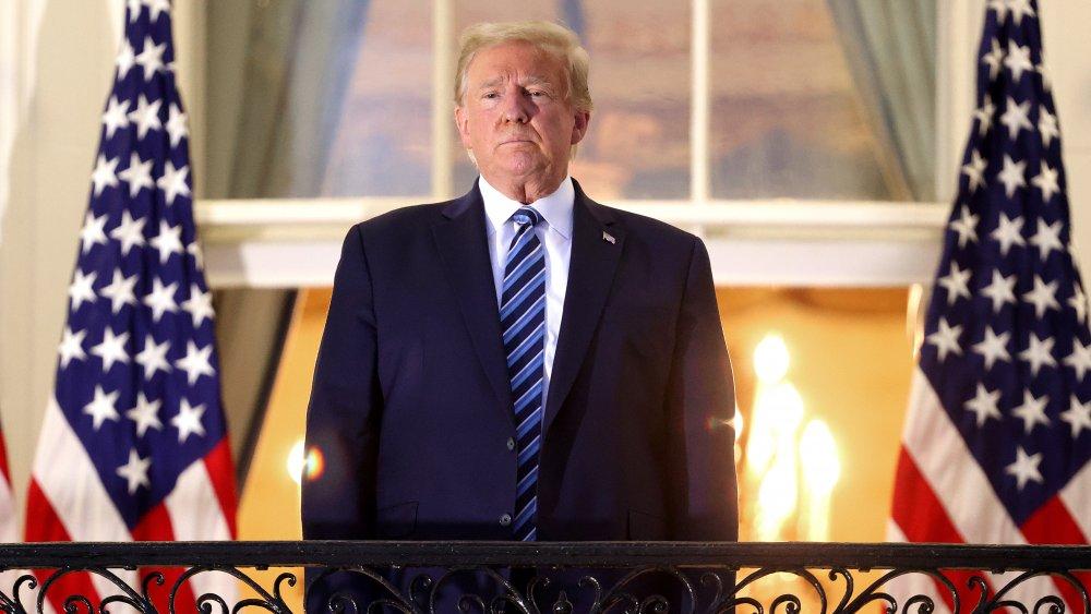 Trump on balcony