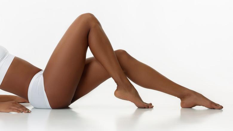 Woman's bare legs