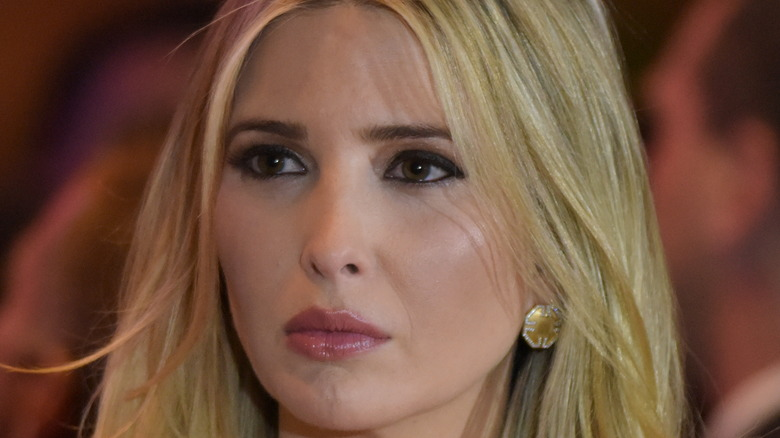 Ivanka Trump looking to her right