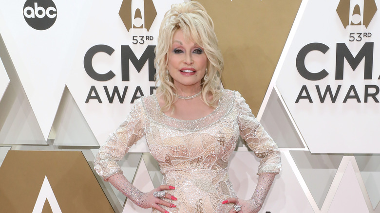 Dolly Parton on red carpet