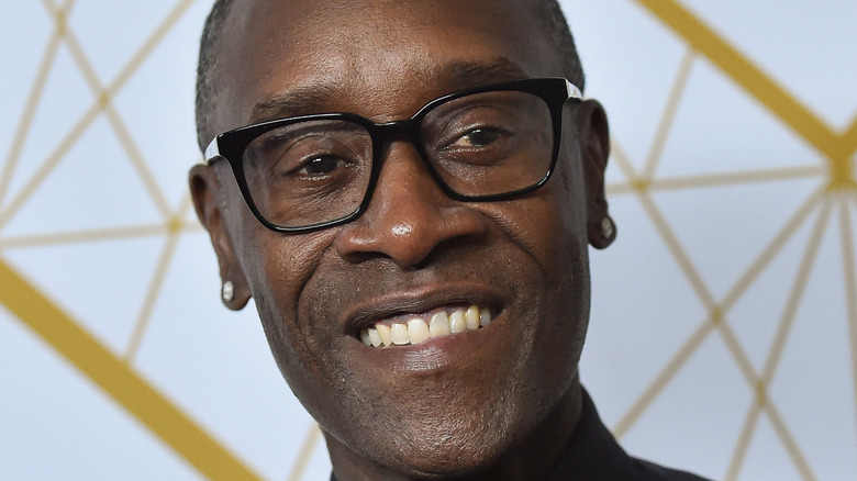 Don Cheadle poses on the red carpet