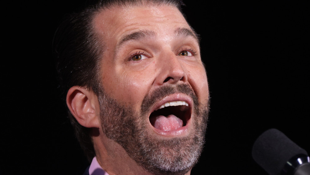 Donald Trump Jr. with mouth wide open