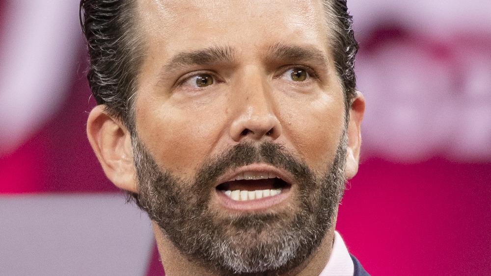 Donald Trump Jr. mouth ajar with beard