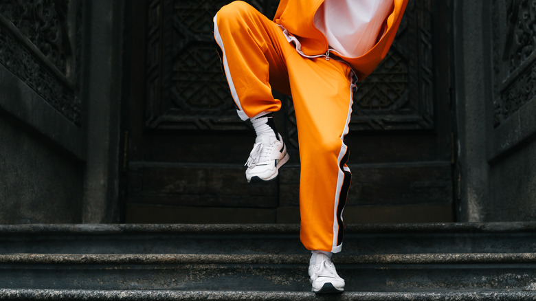 Dancing in a tracksuit