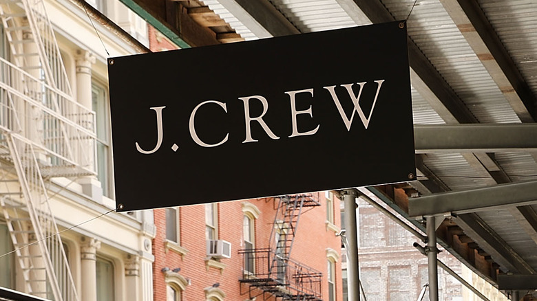 J Crew store sign