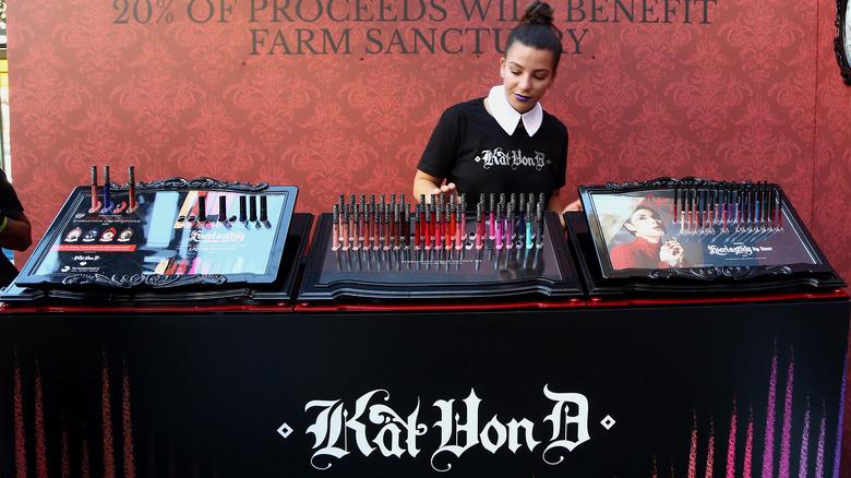 Kat Von D Beauty product display