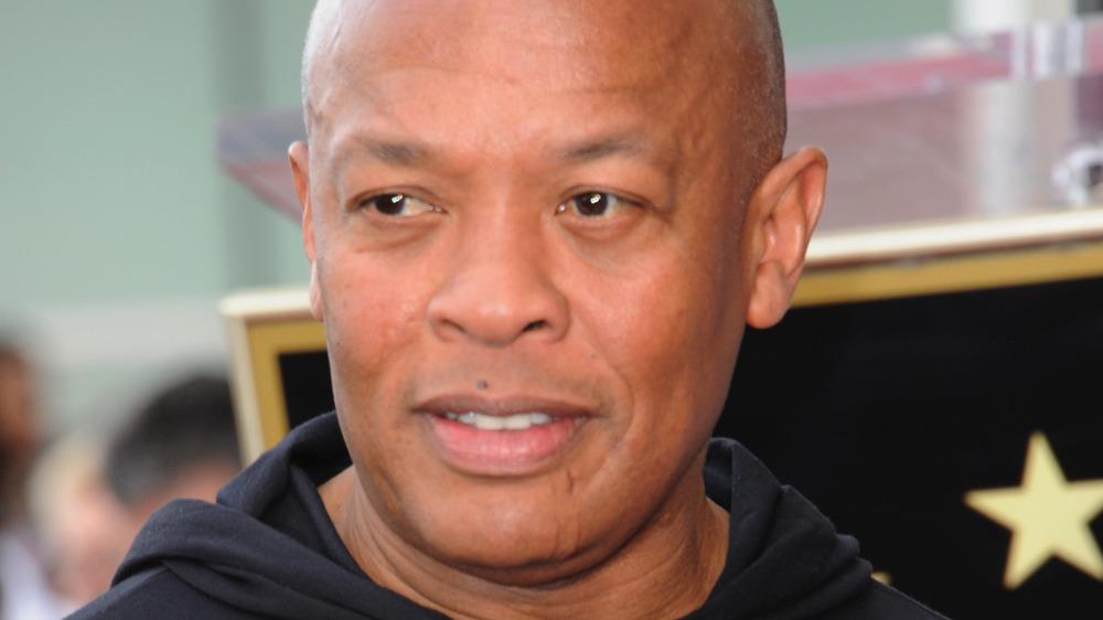 Dr. Dre in a black sweatshirt