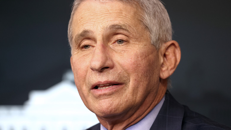 Dr. Fauci with serious expression