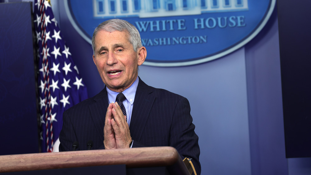 Anthony Fauci at WH briefing
