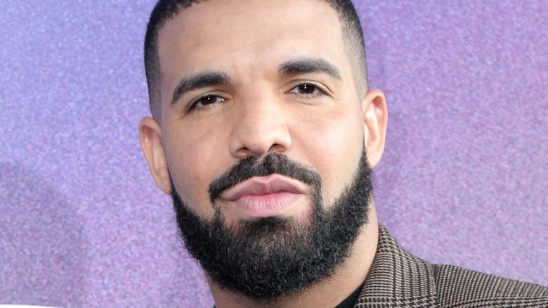 Drake posing