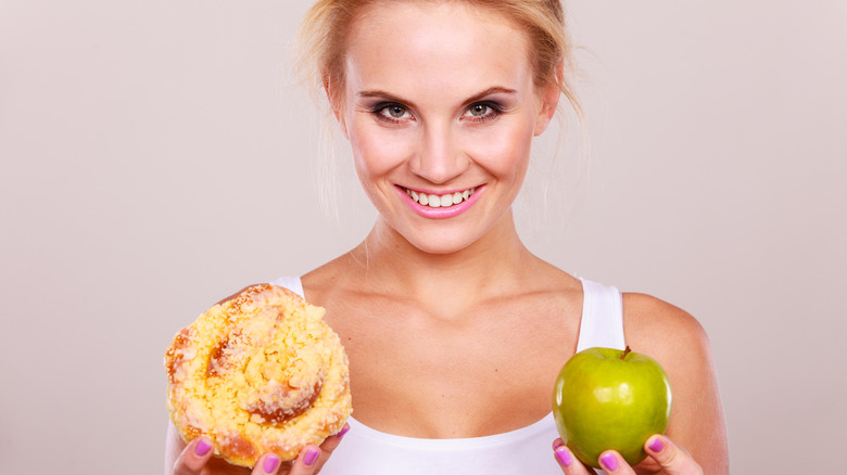 Substitute healthy food into your diet