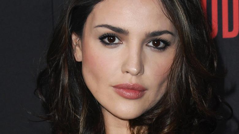 Eiza González looking serious on red carpet