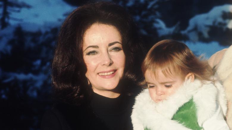 Elizabeth Taylor and her granddaughter