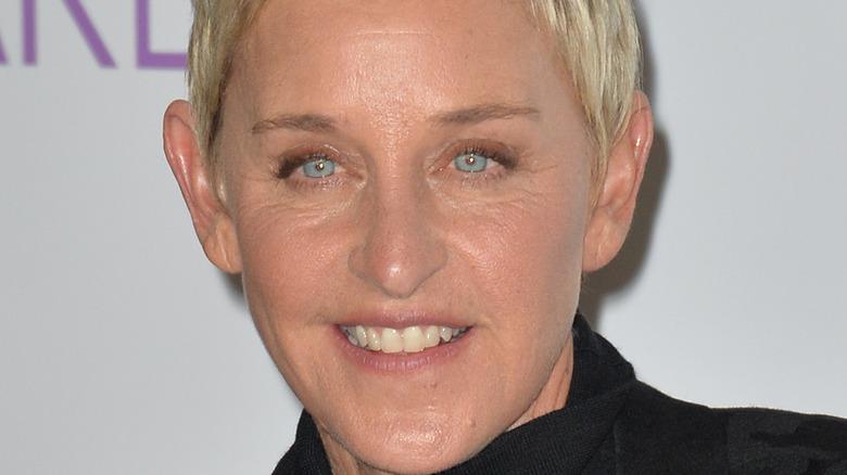 Ellen DeGeneres smiling