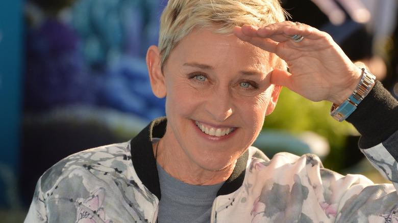 Ellen posing with a smile
