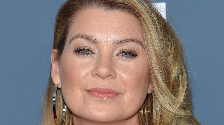 Ellen Pompeo smiling with her hair down
