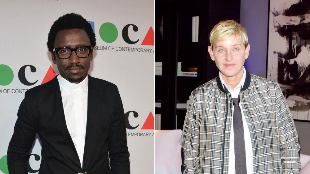 Tony Okungbowa and Ellen DeGeneres