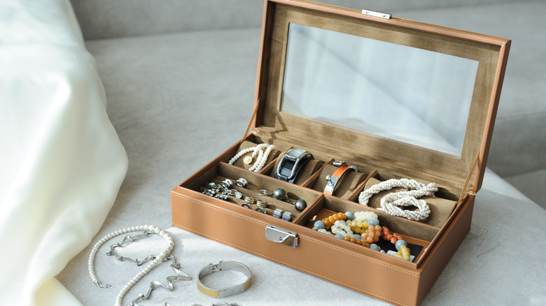 A jewelry box filled with accessories