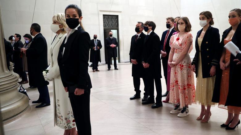Ashley Biden during inauguration night wearing a tux