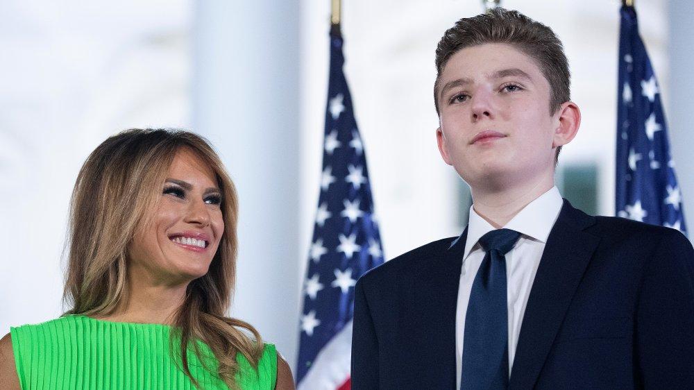 Barron Trump and Melania Trump